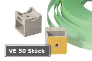 RK-Patenthalter, VE 50 Stück, inkl. Kunststoff-Spannband (Ausführung: RK-Patenthalter, VE 50 Stück, inkl. Kunststoff-Spannband (Art.Nr.: 90.3403))