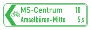Radwegschilder, Pfeilwegweiser (Maße/Form/Modell: 200x800mm/Flachform/einseitig (Art.Nr.: rpw-e-200821))