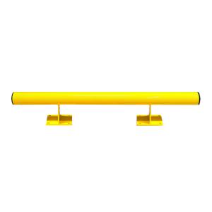 Rammschutzbalken -Mountain- mit Kabelführung, Stahl Ø 76 mm, zum Aufdübeln (Länge: 1000 mm (Art.Nr.: 35701))
