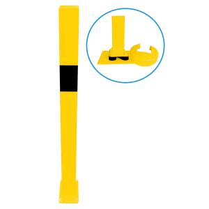 Rammschutzgeländer -Brooklyn-, Standpfosten 70 x 70mm, elastisch / neigbar, zum Aufdübeln, H 1100mm (Modell:  <b>Endpfosten</b> für Ober- u. Knieholm (Art.Nr.: 4270npbg))