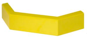 Rammschutzgeländer -Central-, Eckplanken aus Stahl, Außenecke C-Profil 100 x 40 x 3 mm (Oberfläche/Farbe: verkehrsgelb (RAL 1023) kunststoffbeschichtet (Art.Nr.: 11548))