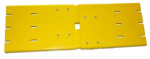 Rammschutzplanke -WALL- für Einfach- und Doppelregalreihen, Stahl, Höhe 310 mm, Schutzhöhe 400 mm