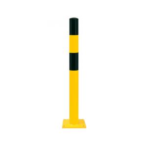 Rammschutzpoller -Mountain S- Ø 90 mm aus Stahl, gelb / schwarz, zum Einbetonieren oder Aufdübeln (Befestigung:  <b>zum Einbetonieren</b> (Art.Nr.: 40323))