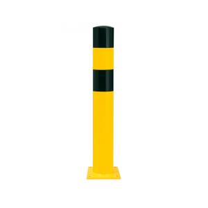 Rammschutzpoller -Mountain XL- Ø 194 mm aus Stahl, gelb / schwarz, zum Einbetonieren o. Aufdübeln (Befestigung:  <b>zum Einbetonieren</b> (Art.Nr.: 40327))