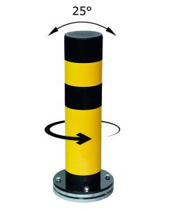 Rammschutzpoller -Spring Turn- Ø 159 mm aus Gütestahl, zum Aufdübeln, drehbar (Höhe: 700 mm (Art.Nr.: 36959))