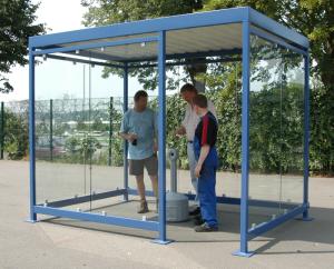 Raucherunterstand -Neckar- (Ausführung: Raucherunterstand -Neckar- (Art.Nr.: 010301))