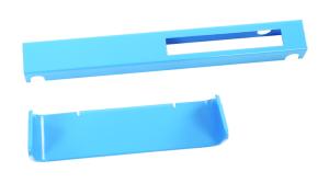 Recycling-Set -Connector Bin- aus Aluminium, zur farbigen Kennzeichnung der Behälter (Farbe: blau (Art.Nr.: 35824))
