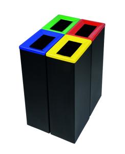 Recyclingbehälter -Pro 35-, 42 Liter aus Stahl, versch. Rahmenfarben (Rahmenfarbe: grau (Art.Nr.: 38536))