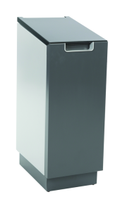 Recyclingstation -Connector Bin- 55 Liter aus Aluminium, wahlweise mit Pedal (Modell: ohne Fußpedal (Art.Nr.: 35821))