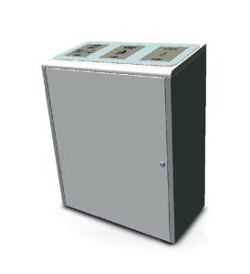 Recyclingstation -Pro 36-, 120 Liter aus Edelstahl (Ausführung: Recyclingstation -Pro 36-, 120 Liter aus Edelstahl (Art.Nr.: 38529))