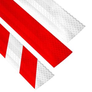 Reflexfolie für Stilpoller und Sperrpfosten, verschiedene Farben (Farbe/Rückstrahlsystem:  <b>weiß</b><br>nach DIN 675250, Tab 3 (Art.Nr.: 40105))