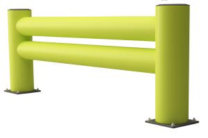 Regalendschutz-Doppelplanke -Rack Armour-, Höhe 620 mm, Länge 1100 oder 2400 mm, zum Aufdübeln (Länge: 1100 mm (Art.Nr.: 37512))
