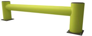 Regalendschutz-Einzelplanke -Rack Armour-, Höhe 420 mm, Länge 1100 oder 2400 mm, zum Aufdübeln (Länge: 1100 mm (Art.Nr.: 37510))