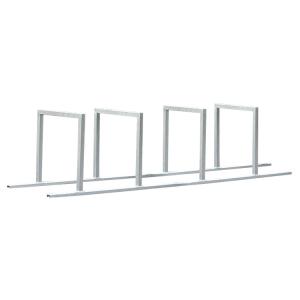 Reihenanlehnbügel -Belgrad- aus Stahl, Höhe 800 mm (Bügel/Einstellplatz/Länge:  <b>2 Bügel</b> 1400mm<br>4 Einstellplätze (Art.Nr.: 10631))