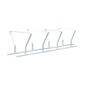 Reihenanlehnbügel -Budapest- aus Stahl, Höhe 600 mm (Bügel/Einstellplatz/Länge:  <b>2 Bügel</b>/1400mm<br>(für 2 bzw. 4 Räder) (Art.Nr.: 10629))