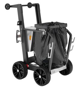 Reinigungswagen -City One- für 1 Müllsack à 120 Liter, Vollgummi-Bereifung (Modell: mit festem Müllsackhalter (Art.Nr.: 35748))