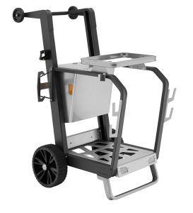 Reinigungswagen -City- für 1 Müllsack à 120 Liter, Vollgummi-Bereifung (Modell: mit festem Müllsackhalter (Art.Nr.: 35746))