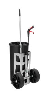 Reinigungswagen -Light One- inkl. 1 x 60 Liter Abfallbehälter und Abfallzange -Greifboy 50- (Ausführung: Reinigungswagen -Light One- inkl. 1 x 60 Liter Abfallbehälter und Abfallzange -Greifboy 50- (Art.Nr.: 37465))