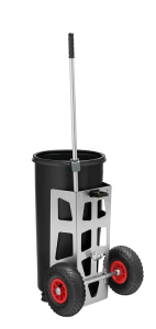 Reinigungswagen -Light One- inkl. 1x Kunststofftonne 60 Liter, Luft- oder Vollgummi-Bereifung (Bereifung: Luftbereifung (Art.Nr.: 35743))