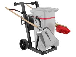Reinigungswagen -Supporter- für 1 Abfallbehälter à 120 Liter, inkl. Abfallzange, Schaufel, Besen (Ausführung: Reinigungswagen -Supporter- für 1 Abfallbehälter à 120 Liter, inkl. Abfallzange, Schaufel, Besen (Art.Nr.: