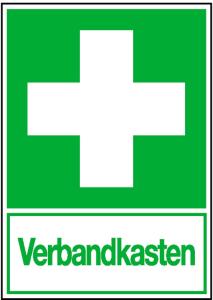 Rettungs-Kombischild Verbandkasten (Material: Folie,selbstklebend (Art.Nr.: 21.0074))