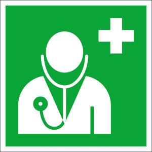 Rettungsschild Arzt (Material: Kunststoff<br>witterungsbeständig (Art.Nr.: 21.a3060))
