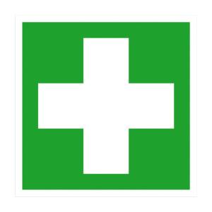 Rettungsschild Erste Hilfe (Maße (BxH)/Material: 150x150mm<br>Folie,selbstklebend (Art.Nr.: 21.0057))
