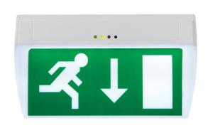 Rettungszeichenleuchte -E-Lux Standard-, Erkennungsweite 22 m, Wandmontage (Ausführung: Rettungszeichenleuchte -E-Lux Standard-, Erkennungsweite 22 m, Wandmontage (Art.Nr.: br530030))