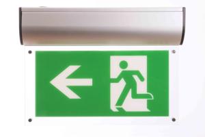 Rettungszeichenleuchte -LED Premium- mit Autotest-Funktion, Erkennungsweite 25 m, Wand- oder Deckenmontage (Ausführung: Rettungszeichenleuchte -LED Premium- mit Autotest-Funktion, Erkennungsweite 25 m, Wand- oder Deckenmontage (Art.Nr.: 34791))