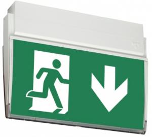 Rettungszeichenleuchte -LED URKL-, Erkennungsweite 25 m, mit Autotest-Funktion, Wand- oder Deckenmontage (Ausführung: Rettungszeichenleuchte -LED URKL-, Erkennungsweite 25 m, mit Autotest-Funktion, Wand- oder Deckenmontage (Art.Nr.: 90.6965))