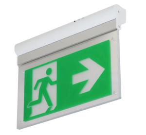 Rettungszeichenleuchte -L-Lux Standard ECO-, Erkennungsweite 26 m, Wand-, oder Deckenmontage (Testfunktion: manuelle Testfunktion (Art.Nr.: br599030))