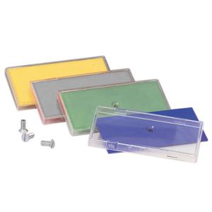 Rohrkennzeichnung RK-Schraubschild, 100 x 50 mm, glatt, VPE 50 Stk. (Farbe/Menge: weiß / VPE 50 Stk. (Art.Nr.: 90.3400-1))