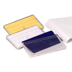 Rohrkennzeichnung RK-Schraubschild mit 3 Nuten, 100 x 50 mm, VPE 50 Stk. (Farbe/Menge: weiß / VPE 50 Stk. (Art.Nr.: 90.3401-1))