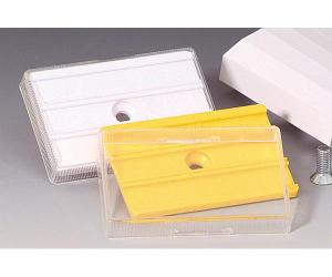 Rohrkennzeichnung RK-Schraubschild mit 3 Nuten, 60 x 40 mm, VPE 50 Stk. (Farbe/Menge: weiß / VPE 50 Stk. (Art.Nr.: 90.3402-1))