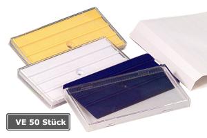 Rohrkennzeichnung RK-Schraubschild mit 3 Nuten, VE 50 Stück, 100 x 50 mm (Farbe: weiß (Art.Nr.: 90.3401-1))