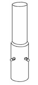 Rohrmast-Aufsetzer, für Ø 89 und 108 mm (Länge/Durchmesser: 250mm/Ø89mm (Art.Nr.: ma08902))