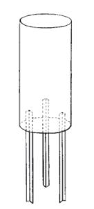 Rohrmast-Verlängerung, für Ø 89 und 108 mm (Länge/Durchmesser: 250mm/Ø89mm (Art.Nr.: mv08902))