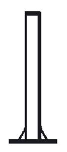 Rohrmasten mit Fußplatte, Ø 89 und 108 mm (Länge/Durchmesser: 3000 mm/Ø 89 mm (Art.Nr.: mf0891300b))