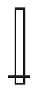 Rohrmasten zum Einbetonieren, Ø 89 und 108 mm (Länge/Durchmesser/Wandstärke:  <b>2500 mm</b><br>Ø 89 mm / Wandstärke 3,2 mm (Art.Nr.: mb089250))