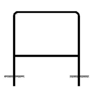 Rohrrahmen Typ 12, inkl. Erdanker (Maße (HxB): 333x1000mm (Art.Nr.: az44551))