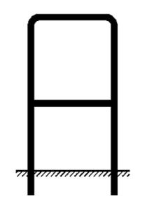 Rohrrahmen Typ 13, inkl. Erdanker (Maße (HxB)/Ø Standrohr (SR): 600x600mm<br>Ø 48,3/2,0 mm (Art.Nr.: a990051))