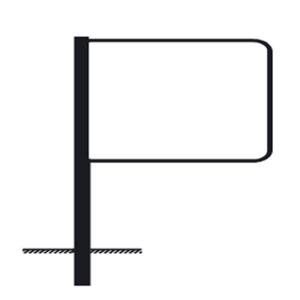 Rohrrahmen Typ 15, inkl. Erdanker (Maße (HxB) /Ø Standrohr (SR) /Länge: 420x630mm<br>60,3/2,0 mm<br>3420 mm (Art.Nr.: af47261))