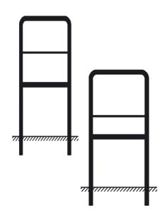 Rohrrahmen Typ 17, inkl. Erdanker (Maße (HxB): 200x750mm u. 750x750mm (Art.Nr.: az352551))