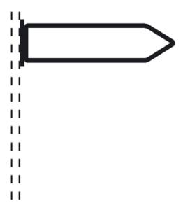Rohrrahmen Typ 20, inkl. Befestigungsschelle (Maße (HxB)/Ø Rahmenrohr (RR)/Befestigung:  <b>250x1000mm</b><br>Ø RR 26,9/1,75mm<br>inkl. Rohrschelle Ø 60mm (Art.Nr.: afs81261))