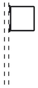 Rohrrahmen Typ 21, inkl. Rohrschelle (Maße (HxB) /Ø Rahmenrohr (RR)/für Rohrschelle (RS): 420x420mm<br>Ø RR 26,9/1,75mm<br>für RS Ø 60mm (Art.Nr.: afs31261))