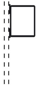 Rohrrahmen Typ 23, inkl. Rorhrschelle (Maße (HxB) /für Rohrschelle (RS): 630x420mm /für RS Ø 60mm (Art.Nr.: afs61261))