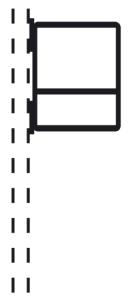 Rohrrahmen Typ 24, inkl. Rohrschelle (für Rohrschelle: für Rohrschelle Ø 60mm (Art.Nr.: afs52261))