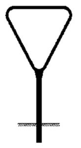 Rohrrahmen Typ 2, inkl. Erdanker (Seitenlänge (SL)/Ø Standrohr (SR)/Ø Rahmenrohr (RR):  <b>SL 630 mm</b><br>Ø SR 60,3/2,0 mm<br>Ø RR 26,9/1,75 mm (Art.Nr.: ae06261))