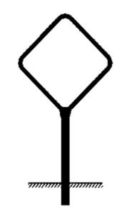 Rohrrahmen Typ 5, inkl. Erdanker (Maße (HxB)/Ø Standrohr (SR)/Ø Rahmenrohr (RR):  <b>420x420mm</b><br>Ø SR 60,3/2,0mm<br>Ø RR 26,9/1,75 mm (Art.Nr.: ae36261))