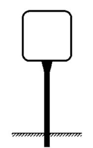 Rohrrahmen Typ 6, inkl. Erdanker (Maße (HxB)/Ø Standrohr (SR)/Ø Rahmenrohr (RR):  <b>420x420mm</b><br>Ø SR 60,3/2,0mm<br>Ø RR 26,9/1,75mm (Art.Nr.: ae31261))